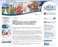 Website GARANT Pflegedienst