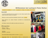 Website Peter Reiher Laufsport