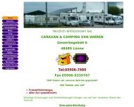 Bild Webseite Wohnwagen van Wieren Spelle
