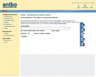 antbo antiquarische b?cher online - Suchmaschine f?r das antiquarische Buch