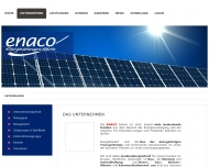 Website ENACO Energieanlagen- und Kommunikationstechnik