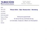 Website Dipl.-Restaurator Tilman Kühn Restaurierungen