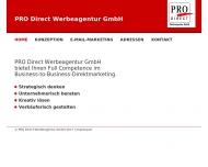 Bild Webseite PRO DIRECT Werbeagentur München