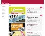 Bild Webseite acrobat print & medienservice gmbH Hamburg