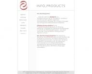 Bild Webseite Info Products München