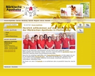 Bild Webseite Märkische Apotheke Plettenberg