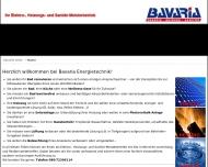 Bild Webseite Bavaria Energiespartechnik München