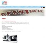 Bild Webseite FM Friedl und Müller Gerätebau Gesellschaft Dachau