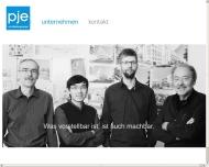 Bild Webseite pje Architektengruppe Perlich u. Jungeblut Magdeburg