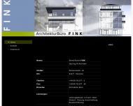 Bild Webseite Fink Bernd-Rainer Dipl.-Ing.FH freier Architekt VDA München