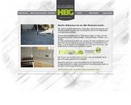 Bild Webseite HBG Pflasterbau Feuchtwangen