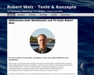 Website Welz Robert | Werbetexter & Autor