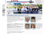 Website Hentak Adolf Abschleppdienst, Unfallinstandsetzung u. Autolackierung