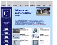 Bild Webseite CashCard Automaten Reutlingen