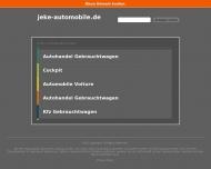 Bild Webseite Jeke Automobile Frankfurt