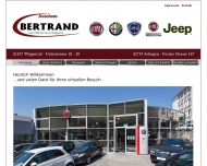 Bild Webseite Autohaus J. Josef Bertrand Gesellschaft Wuppertal