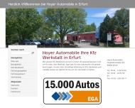 Bild Webseite Hoyer Automobile Erfurt