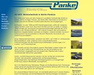 Website Panke Kfz, Werkstatt und Lackiererei