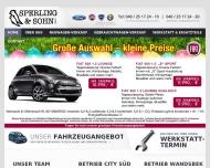 Bild Webseite Fiat autor. Fiat Händler und Servicepartner Sperling & Sohn Hamburg