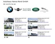 Bild Webseite Autohaus Hansa Nord Lübeck