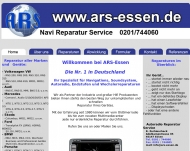 Bild Webseite ARS Auto-Radio-Service R. Zschieschack Essen