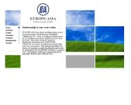 Bild Webseite Europe-Asia Import Export G.m.b.H. Hamburg