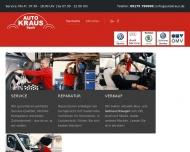 Bild Webseite AUTO KRAUS VW + AUDI + Skoda Spalt