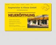 Bild Webseite Autohaus Sagmeister & Klose Berlin