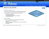 Bild Webseite W. Behrens Hamburg