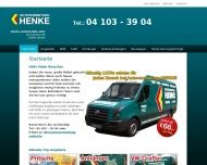 Bild Webseite Autovermietung Henke Wedel