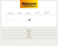 Bild Webseite Mehlwurm Vollkornbäckerei Gesellschaft Berlin