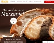 Bild Webseite Merzenich-Bäckereien Köln