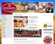 Bild Webseite Niehaves Bäckerei Konditorei Dortmund