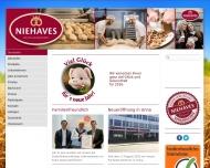 Website Niehaves Bäckerei Konditorei