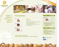 Bild Webseite Bäckerei Konditorei Ziegler München