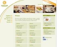 Website Bäckerei Konditorei Ziegler