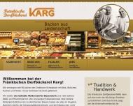 Bild Webseite Bäckerei & Konditorei Michael Karg Nürnberg