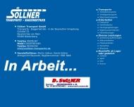 S?llner Transporte - Baggerbetrieb - Weidenberg