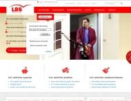 Bild Webseite LBS Bayerische Landesbausparkasse Immobiliendienstleistungen Feuchtwangen