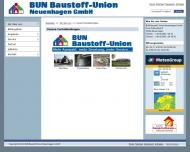 Website BUN Baustoff Union Neuenhagen