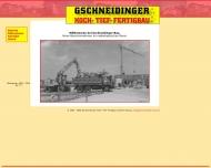 Bild Webseite Gschneidinger Hoch-, Tief- und Fertigbau Otzing