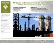 Website Renner Michael Bauunternehmung
