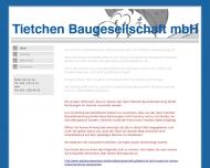 Bild Webseite Tietchen Baugesellschaft Hamburg