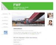 Bild Webseite FWF Bauunternehmung Hamburg