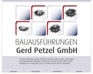 Bild Webseite Bauausführungen Gerd Petzel Berlin