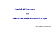 Bild Webseite Muxfeldt Wolfgang Bauausführungen Hamburg