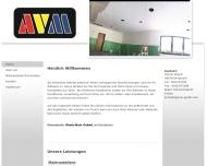 Bild Webseite AVM Maler- und Bauunternehmen Frankfurt