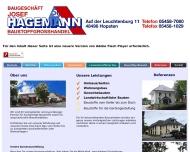 Website Hagemann Bauunternehmen