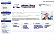 Bild Webseite Berg Dieter Bauausführungen Berlin