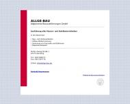 Bild Webseite ALLGE-BAU Allgemeine Bauausführungen Hamburg